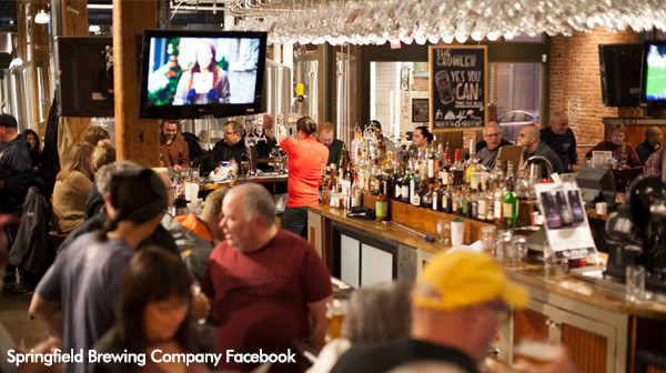 Springfield Brewing Company bar and restaurant