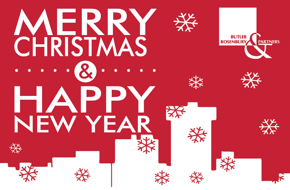 Merry Christmas & Happy New Year from Butler, Rosenbury & Partners