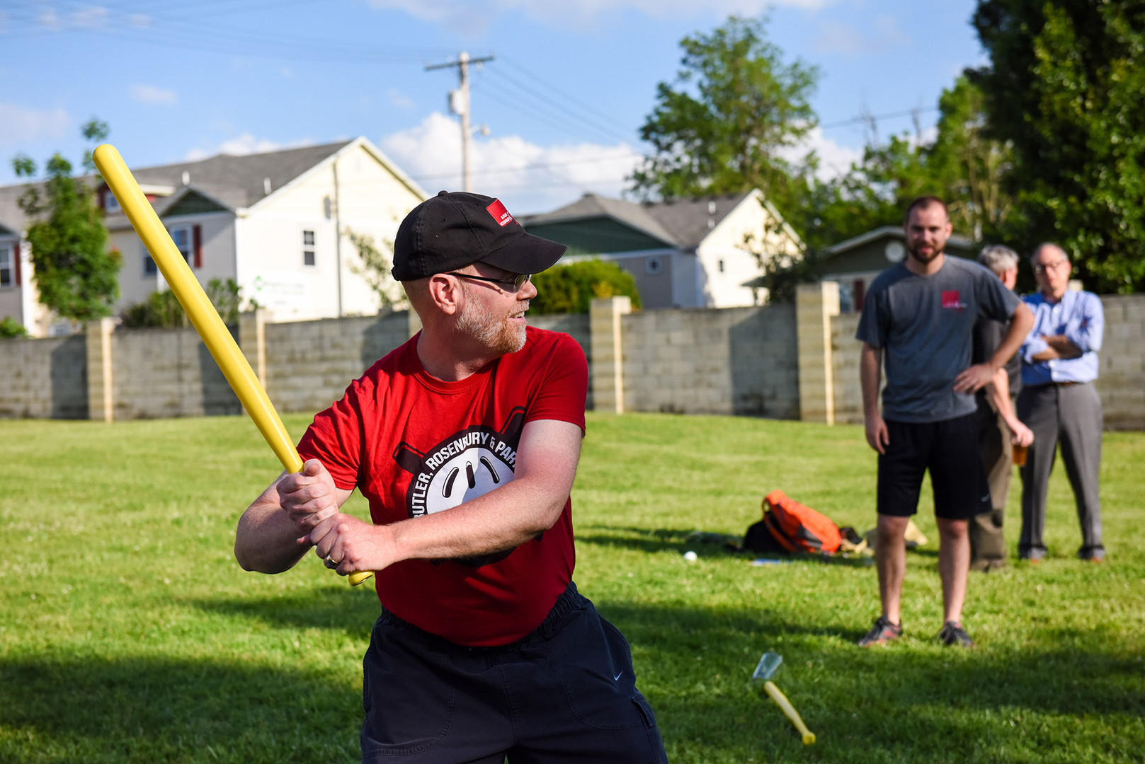 Glenn playing in our annual wiffle ball league