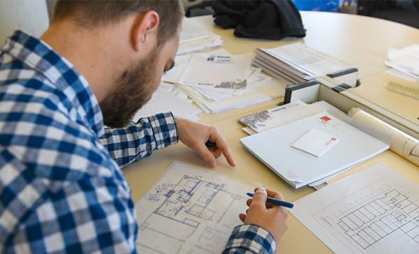 Jacob Nentrup, BR&P Intern Architect, drawing