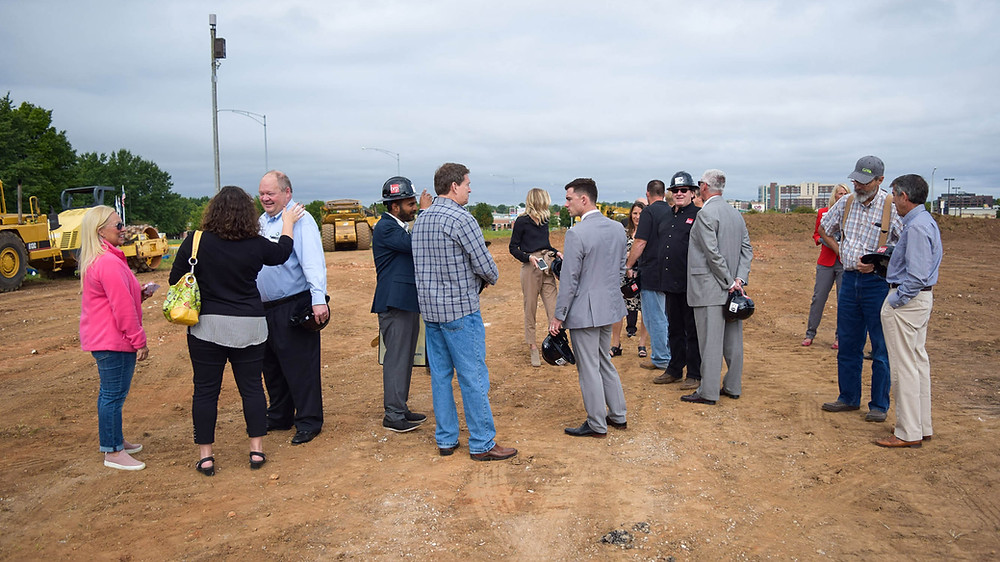 Conversation after the ground breaking