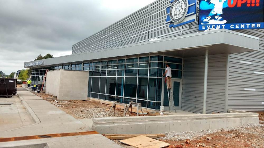 Construction on Greenwood Laboratory School Multipurpose Addition