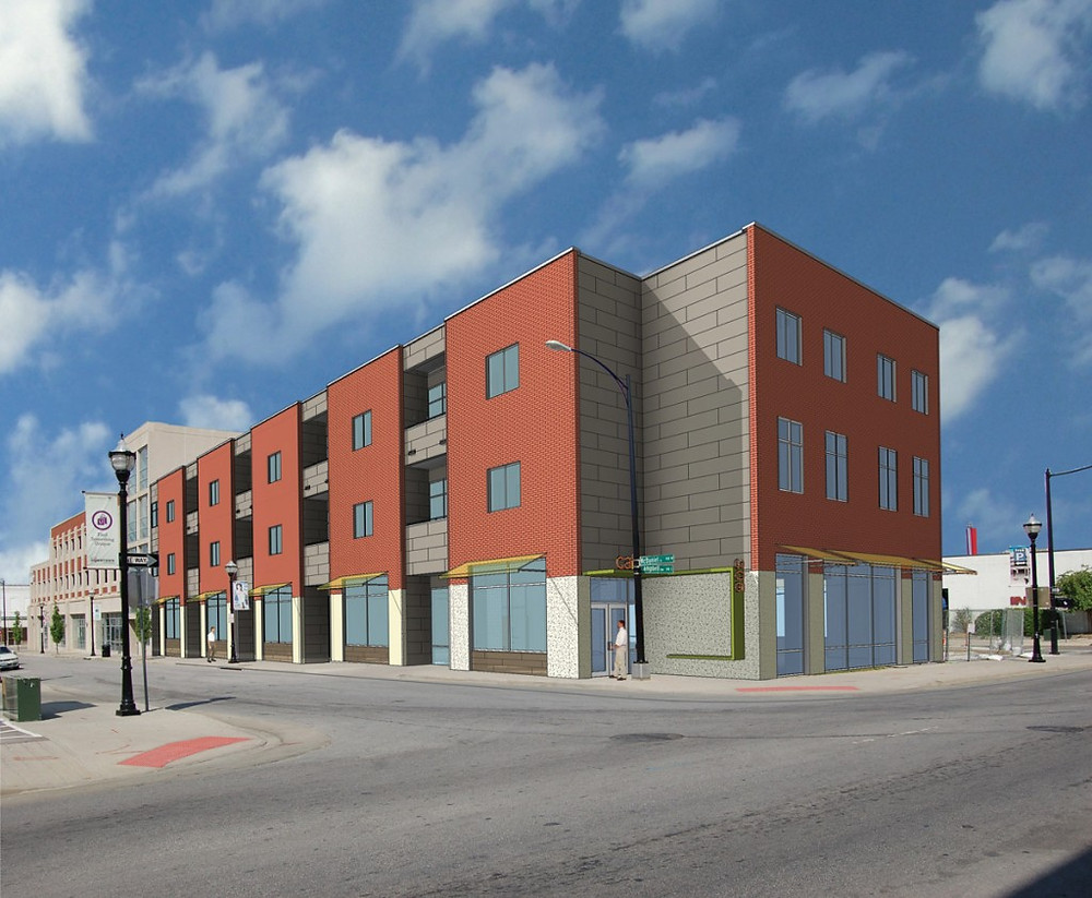 College Station Lofts rendering