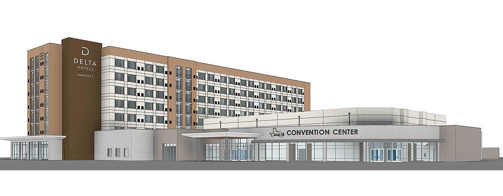 BRP Architects rendering of Delta Hotel and Convention Center — Wichita Falls, TX