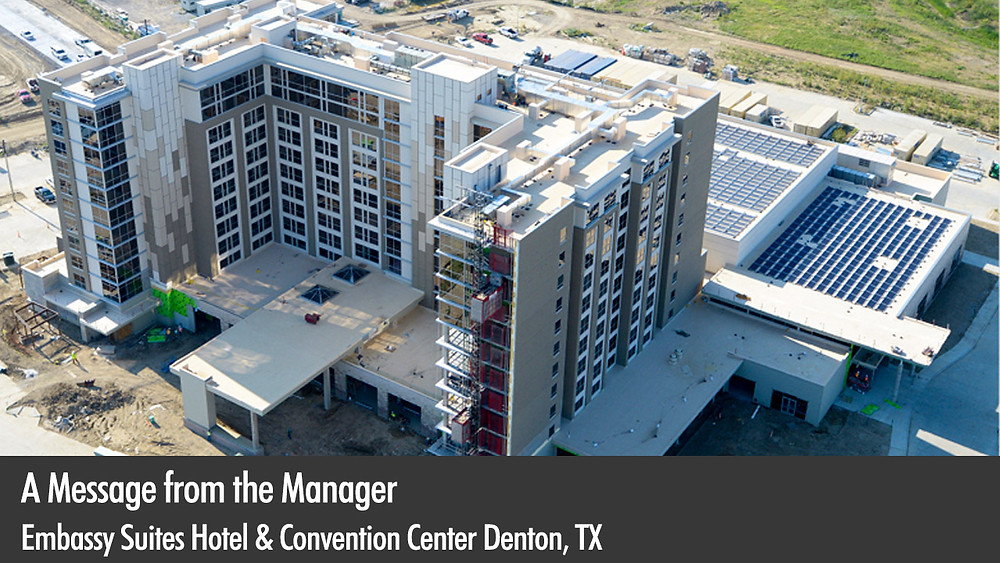 A Message from the Manager - Embassy Suites Hotel & Convention Center, Denton, Texas