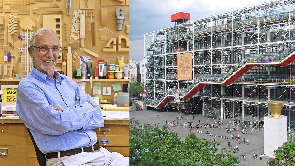 Renzo Piano and his project the Centre Pompidou in Paris