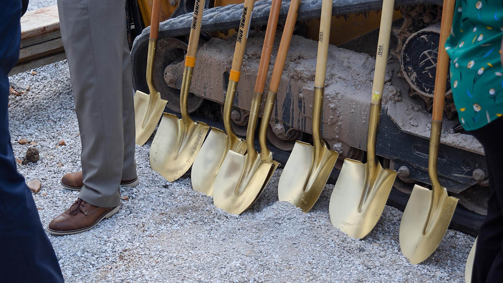 Gold Shovels used for groundbreaking