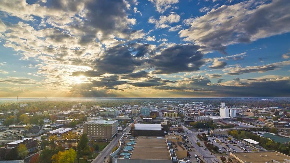 Birdseye view of Springfield, MO