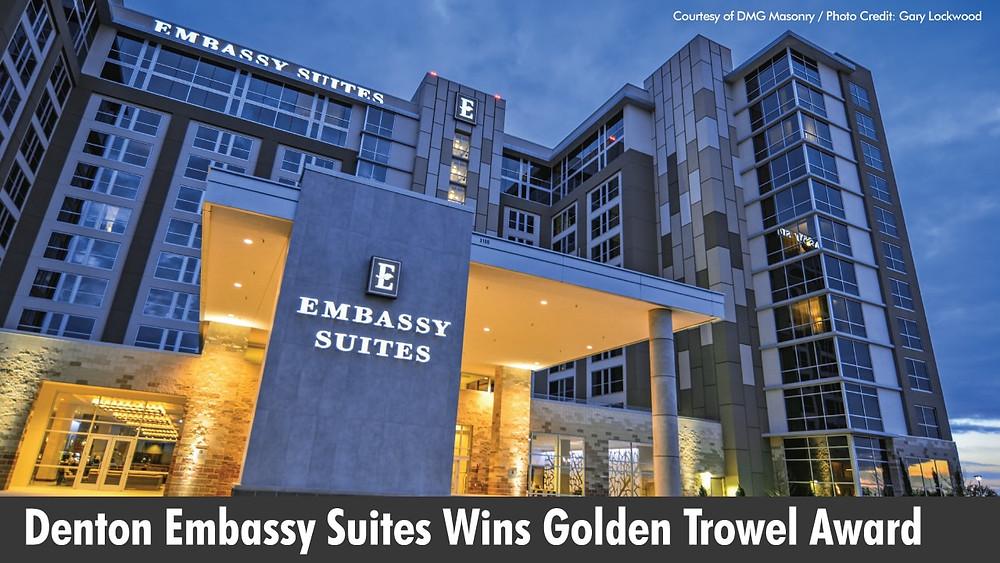 Denton Embassy Suites Wins Golden Trowel Award