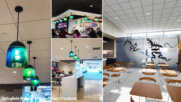 Springfield-Branson National Airport - Glass Partition & Glass Pendants