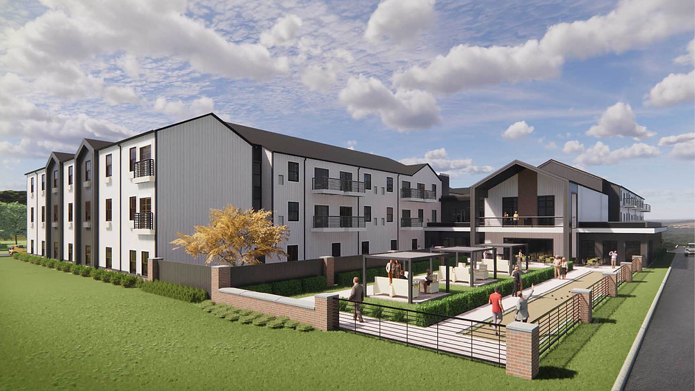 Mission Ridge Senior Living Facility rendering, BRP Architects