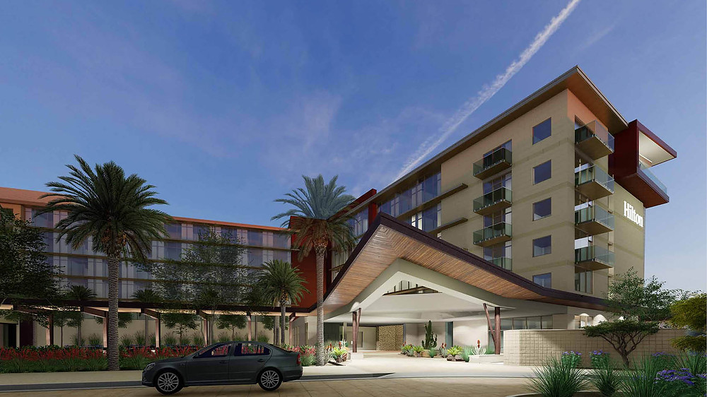 BRP Architects rendering of Cavasson Hilton Hotel —Scottsdale, AZ