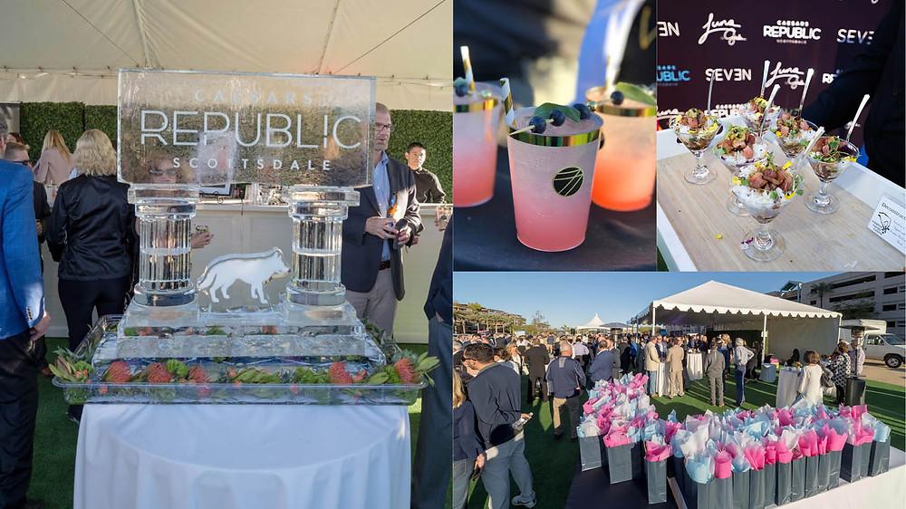Caesars Republic Scottsdale Hotel ground breaking ceremony items