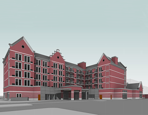 Courtyard by Marriott- Holland, Michigan, BR&P rendering