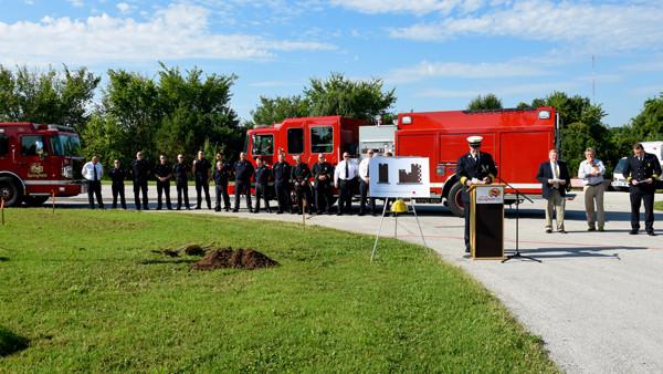 Fire Department Training Simulator Groundbreaking Ceremony