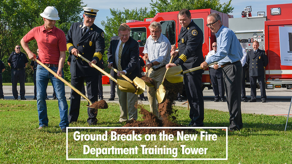 Ground Breaks on the Fire Department Training Tower