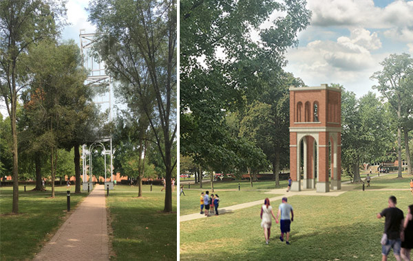 Two Approaches for the Hogue Hall Memorial