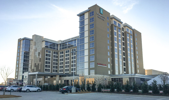 The BR&P Designed Embassy Suites Hotel & Convention Center in Denton, TX.