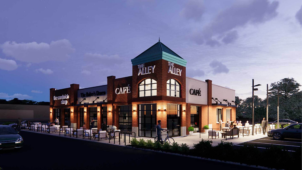 BRP Architects rendering of The Alley at Grand Village Shops — Branson, MO