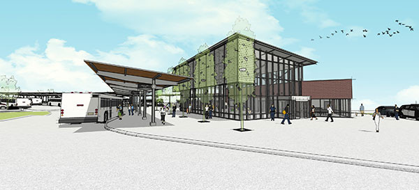 City Utilites Transfer Station Rendering