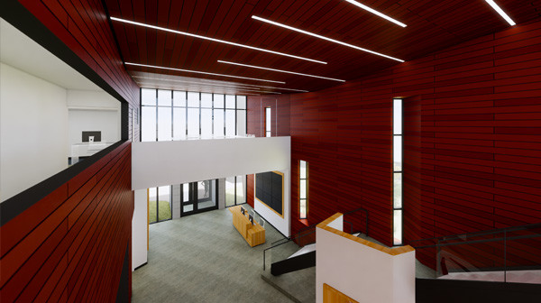 Branson Chamber lobby rendering