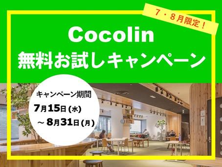 【7・8月限定!】cocolinご利用お試しキャンペーン実施します!