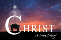 Christmas Church Postcard 2133