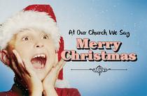 Christmas Church Postcard 2130