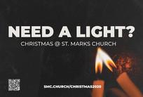 Christmas Church Postcard 2120