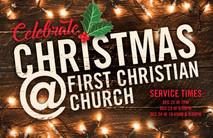 Christmas Church Postcard 2125