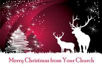 Christmas Church Postcard 2110