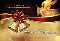 Christmas Church Postcard 2107