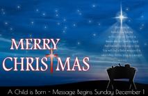 Christmas Church Postcard 2116