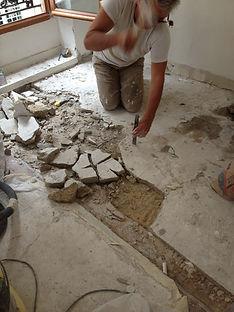 renovation appartement paris - dalle béton allégée