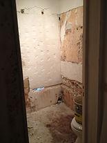 la rénovation d'une salle de bain et des carrelages.