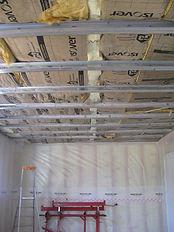 isolation intérieure et rénovation des plafonds