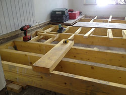 rénovation plancher appartement à Paris 18