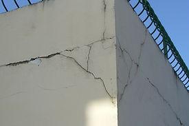 gonflement de la facade, poussé des fers