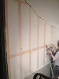 ponçage des murs en colombage bois