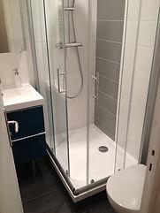 rénovation du bac à douche de la salle de bain en rénovation d'appartement à Paris