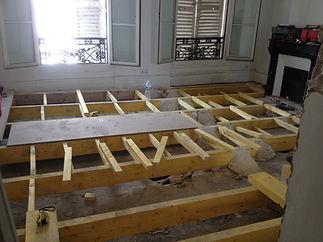 renovation structure plancher haussmannien