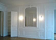 Rénover ancien appartement, moulures au plafond, moulure Parisienne, plafond plâtre