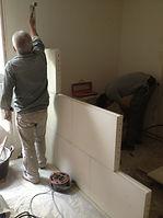 Rénovation des cloisons, rénovation d'une salle de bain