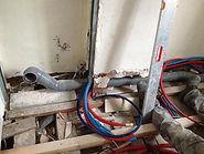 Rénovation d'un toilette suspendu