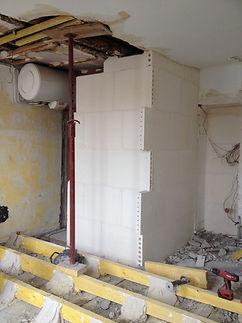 rénovation appartement - cloisons