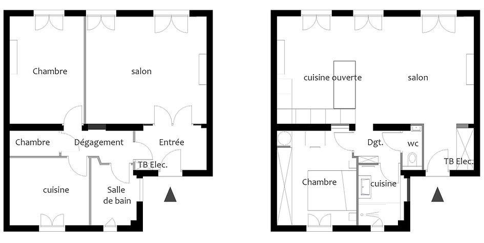 plan d'architecte d'interieur