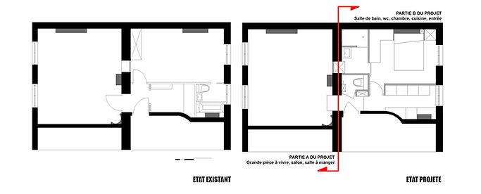 Voici les plans de l'architecte d'interieur