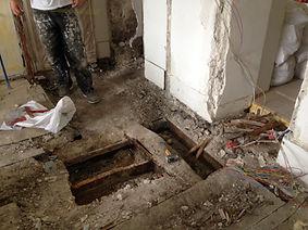 restauration de la structure bois du plancher à PARIS 18