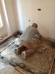 rénovation du béton et d'une dalle allégée en rénovation d'appartement.