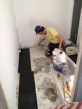 Création du calepinage de la salle de bain et rénovation du carrelage